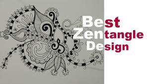 how to draw best zentangle doodle mandala zendoodle art design