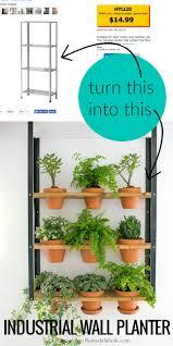 ikea hyllis hack industrial wall planter more metal shelves ideas