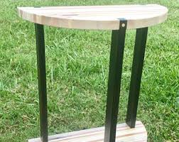 Wood Block Side Table Block Side Table Etsy