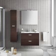 Roca Victoria Designer Mm Wenge Wall Hung Bathroom Vanity Unit - Designer vanity units for bathroom