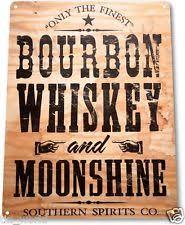 bourbon sign whiskey sign ebay