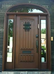 Exterior Doors Nj Grand Entrance Clopay Rustic Collection Stained Cherry Fiberglass