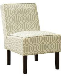 upholstered accent chairs living room hot sale white and olive upholstered living room armless accent chair