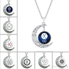 jewellery charm necklace images Wholesale new time gem exo jewelry necklace children kids moon jpg