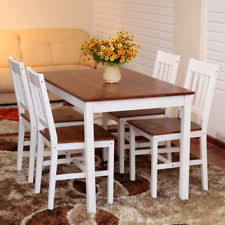White Wooden Dining Table And Chairs White Table And Chair Sets Ebay