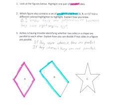 parallel and perpendicular sides students are asked to identify