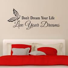 vinyl wall art inspirational quotes promotion shop for promotional don t dream your life live your dreams motto inspirational quotes bedroom living removable vinyl wall art decal sticker b051
