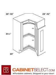 how big is a corner base cabinet l10 car33 luxor white 33 lazy susan corner base cabinet