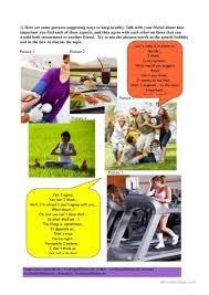 101 free esl healthy worksheets