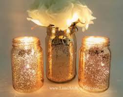 rose gold wire mason jar centerpiece mason jar light firefly
