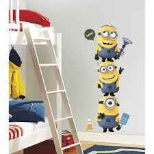 minions wall stickers wall art kids minions wall sticker tower