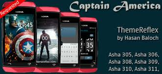 themes nokia asha 308 download captain america theme for nokia asha 305 asha 306 asha 308 asha