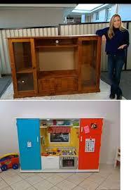tv cabinet kids kitchen old tv unit to kids kitchen http au lifestyle yahoo com better