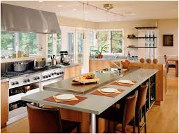 galley kitchen with island note stove window sink in island but that