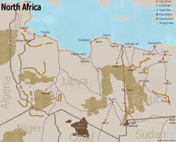 Map Of Libya Images Africa Map Libyan Desert