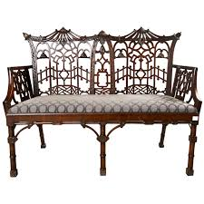 antique chinese chippendale settee canape canapes settees and