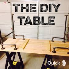 Pipe Desk Diy Black Iron Pipe Table 6 Steps With Pictures