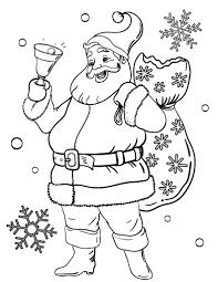 free santa claus coloring