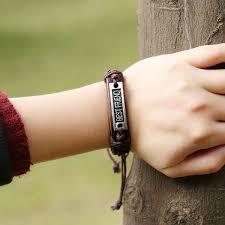 gift men bracelet images Vintage genuine leather bracelets for women beauty best friend jpg
