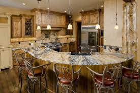 winsome limestones countertop for curved kitchen island under