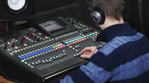 sound designer 4k sound designer working on the sound moving fader up