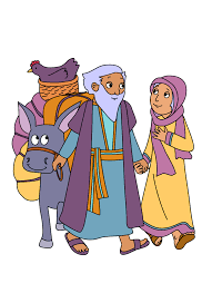 free bible coloring page abraham and sara a new home