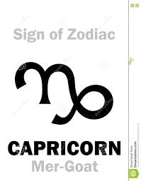 Astrology Sign Astrology Sign Of Zodiac Capricornus The Mer Goat Stock Photo