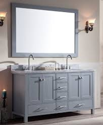 Double Sink Vanity Top 61 Ace 61 Inch Double Sink Bathroom Vanity Set In Grey Finish