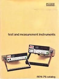 fluke catalog 1974 75 electricity manufactured goods