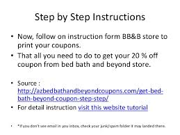 Bed Bath Beyond In Store Coupon Three Simple Step On How To Get Bed Bath And Beyond Coupons