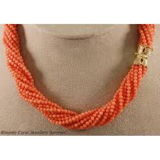 beaded coral necklace images Pink coral rope necklace the coral jewelry sorrento jpg