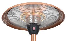 Fire Sense Propane Patio Heater by Fire Sense Copper Finish Table Top Round Halogen Patio Heater