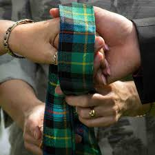 celtic handfasting cords plaid handfasting ribbon made in scotland celtic wedding ceremonies