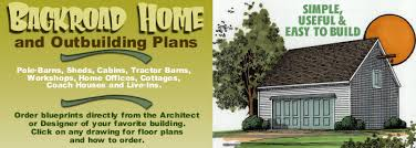 backroad homes sheds and out building plans