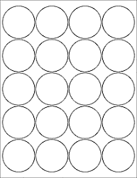 1 Inch Circle Template by Label Templates Ol5375 2 Circle Labels Microsoft
