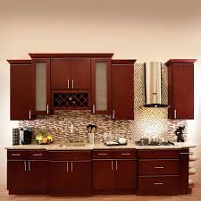 Cherry Wood Kitchen Cabinets With Black Granite Cherry Cabinets Cherry Cabinets Wall Color Cherry Wood Kitchen