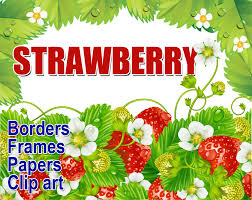 margarita clipart border vintage strawberry clipart 59