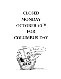 closed columbus day notice u2013 greenwich free library