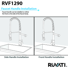 Pre Rinse Kitchen Faucets by Ruvati Rvf1290k1st 28 Inch Pre Rinse Commercial Style Kitchen