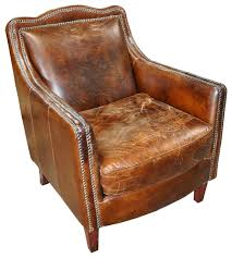 noir furniture club chair 973 vintage cigar leather traditional