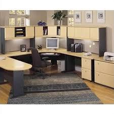 Corner Desk Beech Bush Business Series A 5 U Shape Corner Desk Set In Beech