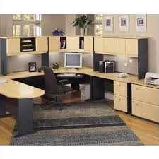bush series a desk bush business series a 5 piece u shape corner desk set in beech