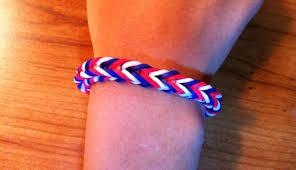 bracelet color bands images How to make a rainbow loom fishtail bracelet american flag jpg