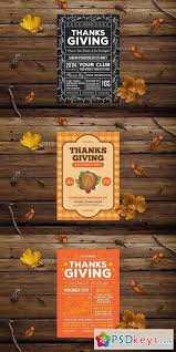 thanksgiving flyer pack free photoshop vector stock
