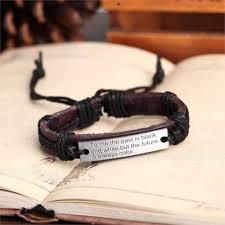 bracelet handmade leather images Handmade leather bracelet past is black white tribal lb 035 jpg