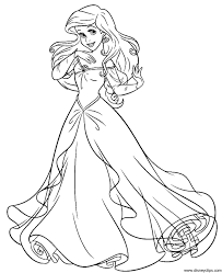 printable ariel coloring page disney princess coloring pages free