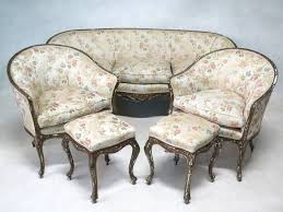 venetian louis xv style seven piece living room set italy 18th