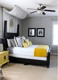 Yellow And Gray Decor by Bedroom Stylish Grey Yellow Bedding Sets Idea Good Looking