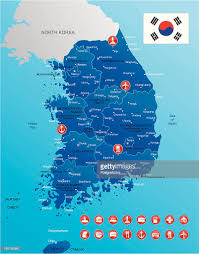 Map Of World Korea by Map Of South Korea Vector Art Getty Images