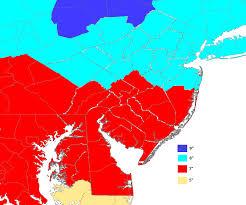 Philadelphia Pa Zip Code Map by Winter Weather
